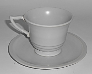 Franciscan Pottery Montecito Satin Grey Cup & Saucer  (Image1)