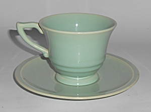 Franciscan Pottery Montecito Gloss Celadon Cup & Saucer (Image1)