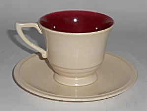 Franciscan Pottery Montecito Duotone Cup & Saucer Set
