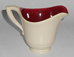 Franciscan Pottery Montecito Gloss Maroon/Satin Oatmeal (Image1)