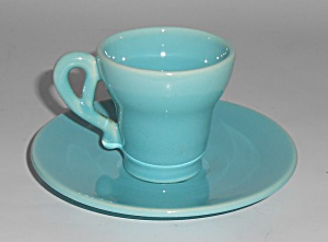 Franciscan Pottery El Patio Gloss Turquoise Demi Cup/sa