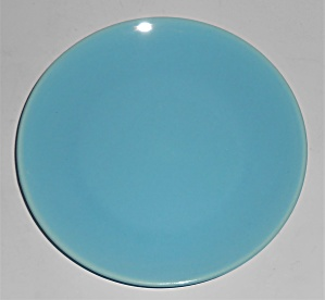 Catalina Pottery Rancho Ware Gloss Turquoise Bread Pl (Image1)