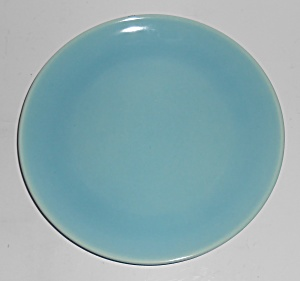 Catalina Pottery Rancho Ware Gloss Turquoise Salad Pl
