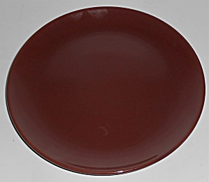 Catalina Pottery Rancho Ware Red/brown Salad Plate