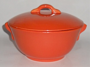 Franciscan Pottery El Patio Flame Orange Casserole w/Li (Image1)