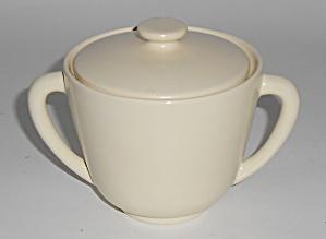 Catalina Pottery Rancho Ware Satin Ivory Sugar Bowl (Image1)