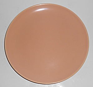 Catalina Pottery Rancho Ware Satin Coral Dinner Plate
