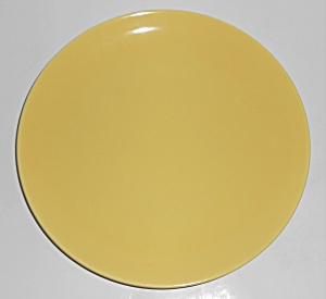 Catalina Pottery Rancho Ware Gloss Yellow Dinner Plate