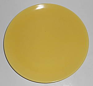 Catalina Pottery Rancho Ware Gloss Yellow Dinner Plate (Image1)