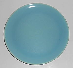 Catalina Pottery Rancho Ware Gloss Turquoise Dinner Pla (Image1)