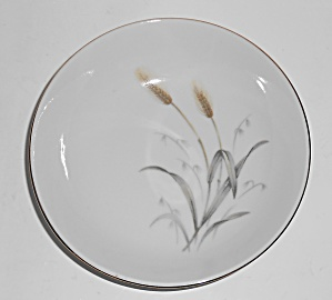 Sone China Platinum Grain Plume Decorated Fruit Bowl