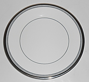 Royal Doulton China Sarabande Platinum Band Salad Plate