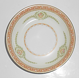 Noritake China Porcelain Durer Floral W/gold Fruit Bowl