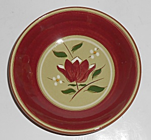 Stangl Pottery Magnolia Fruit Bowl & Stangl Pottery Magnolia Large Salad Bowl