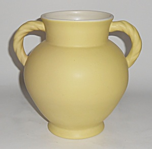 Coors Pottery Berthoud Yellow//white Vase