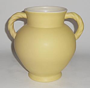 Coors Pottery Berthoud Yellow//White Vase (Image1)