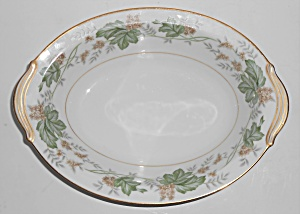 Noritake Porcelain China 5312 Daphne W/gold Vegetable B