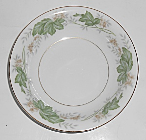 Noritake Porcelain China 5312 Daphne W/gold Fruit Bowl
