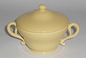 Franciscan Pottery El Patio Gloss Yellow Sugar Bowl