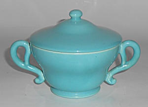 Franciscan Pottery El Patio Gloss Turquoise Sugar Bowl