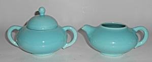 Franciscan Pottery El Patio Gloss Turquoise Early Cream