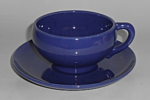 Franciscan Pottery El Patio Early Cobalt Cup & Saucer