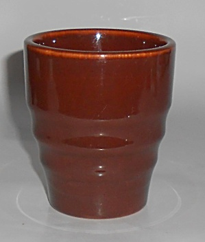 Franciscan Pottery El Patio Redwood Gloss Banded Tum