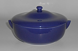 Franciscan Pottery El Patio Early Cobalt Soup Bowl W/li