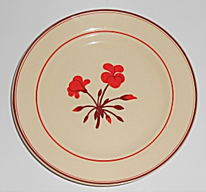 Franciscan Pottery Early Geranium Salad Plate
