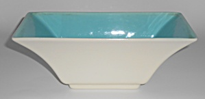 Franciscan Pottery Capistrano Art Ware Ivory/Turquoise  (Image1)
