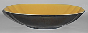 Franciscan Pottery Capistrano Art Ware Gunmetal/Yellow  (Image1)
