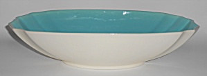 Franciscan Pottery Capistrano Art Ware Ivory/turquoise