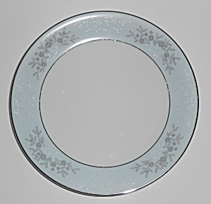 Noritake Porcelain China 5858 Blueridge W/platinum Sala