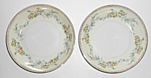 Sampy Fine China Japan Les Fleurs Pair Soup Bowls
