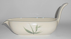 Winfield China Pottery Green Bamboo Gravy Bowl