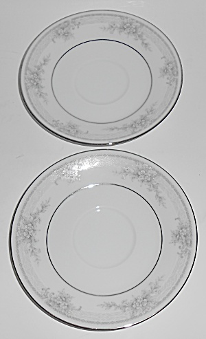 Noritake Porcelain China Sweet Leilani W/platinum Pair