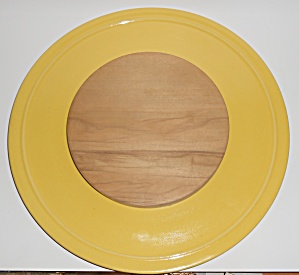 Pacific Pottery Hostess Ware Yellow Cheese Board Tray