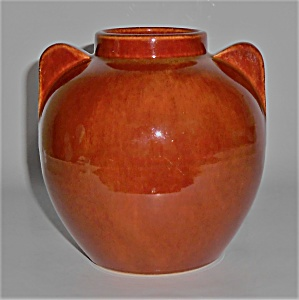 Bauer Pottery Hi-Fire #219 Red/Brown Vase Mint (Image1)