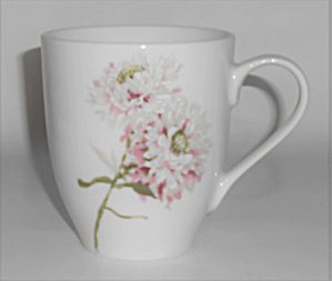 Mikasa Porcelain China Silk Floral Pink Large Mug