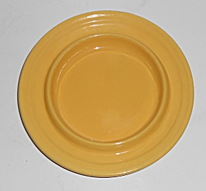 Bauer Pottery Ring Ware Yellow Butter Dish Base