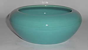 Bauer Pottery Hi-fire Turquoise Bulb Bowl