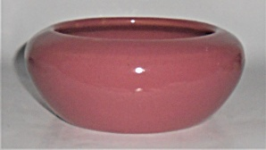 Bauer Pottery Very Rare Dusty Rose Bulb Bowl