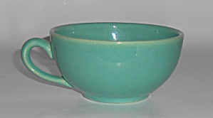 Bauer Pottery Plain Ware Jade Coffee Cup