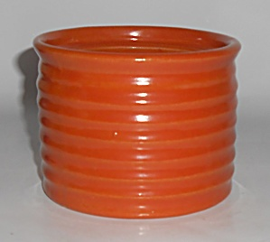 Bauer Pottery Ring Ware Orange #1 Spice Jar - No Lid