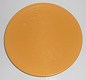 Bauer Pottery Ring Ware 1st Period Yellow 9.5'' Plate