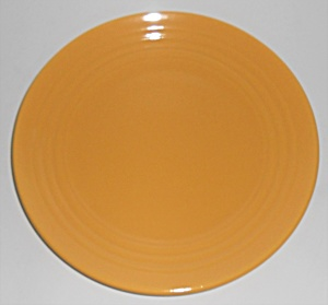 Bauer Pottery Ring Ware Yellow 9.5'' Plate #1