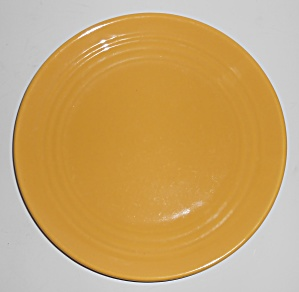"Bauer Pottery Ring Ware Yellow 9.5"" Plate #2"