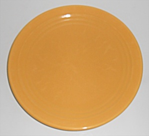 "Bauer Pottery Ring Ware Yellow 9.5"" Plate #3"