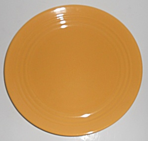 "Bauer Pottery Ring Ware Yellow 9.5"" Plate #5"