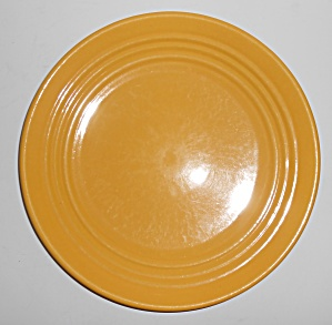 "Bauer Pottery Ring Ware Yellow 9.5"" Plate #6"